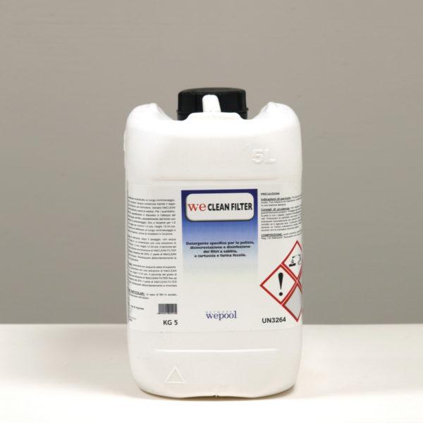 WeCleanFilter - Detergente specifico per la pulizia, disincrostazione e disinfezione dei filtri a sabbia, cartuccia e farina fossile