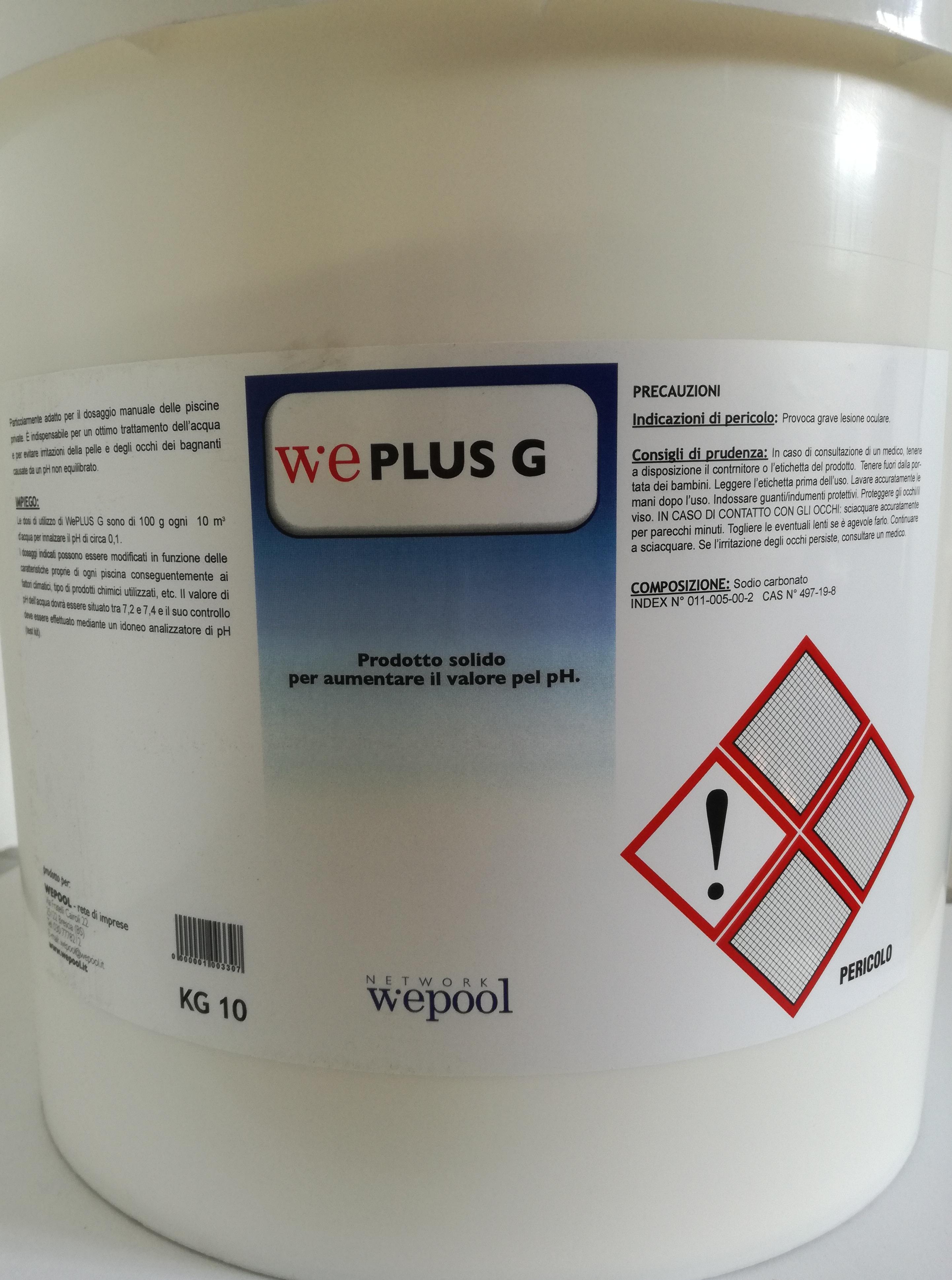 WePlus G - Ph più granulare per piscine 10 kg