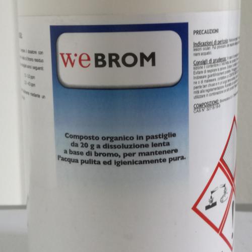 WeBrom - Bromo organico in pastiglie 20 gr 1 kg
