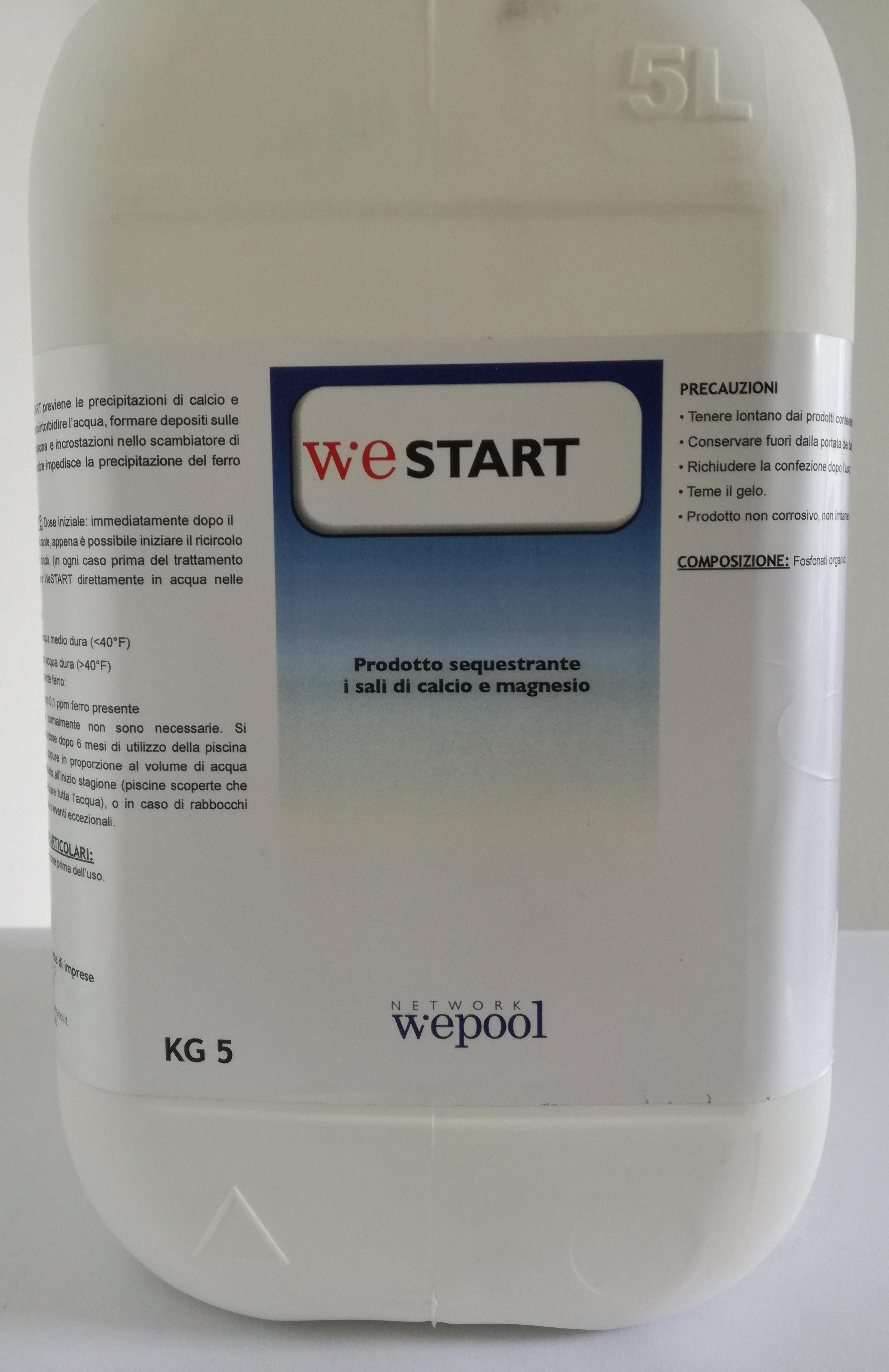 WeStart - Sequestrante calcio e magnesio per piscine 5 kg